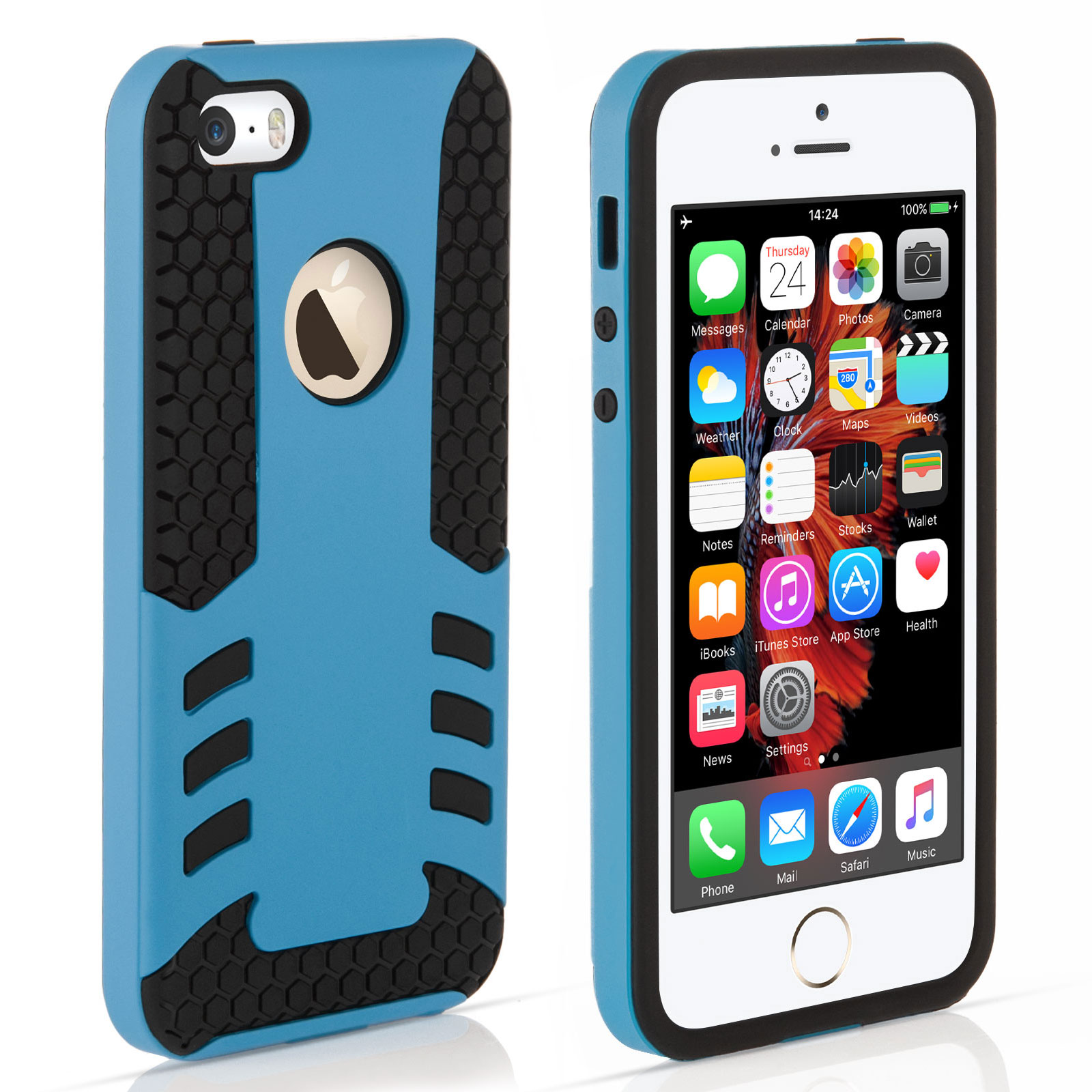 YouSave iPhone 5 / 5S / SE Border Combo Case - Blue
