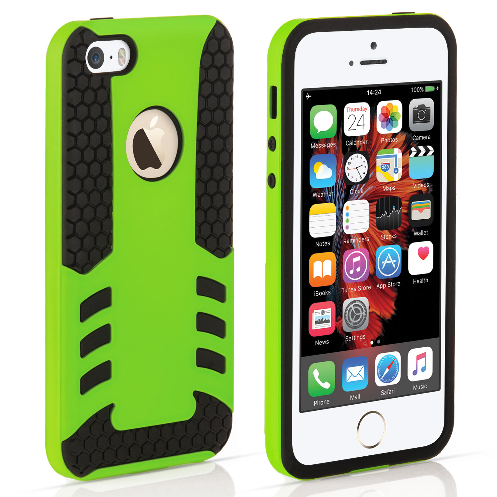 YouSave iPhone 5 / 5S / SE Border Combo Case - Green