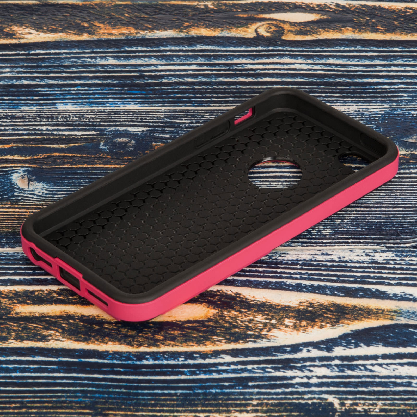 YouSave iPhone 5 / 5S / SE Border Combo Case - Hot Pink