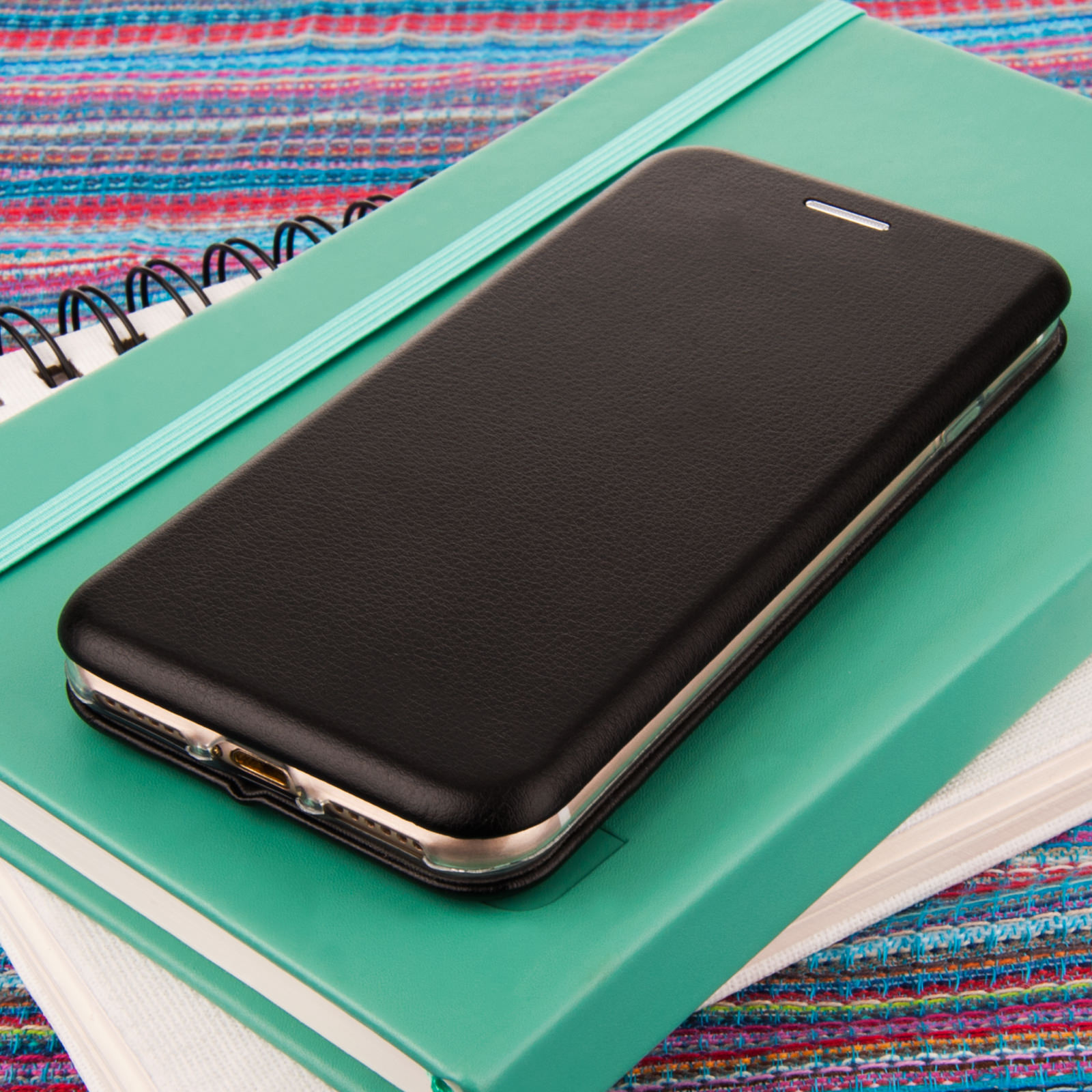 YouSave Accessories iPhone 7 Leather-Effect Stand Wallet Case - Black