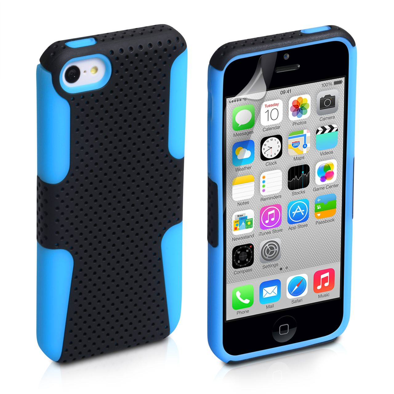 YouSave Accessories iPhone 5C Mesh Combo Case - Blue