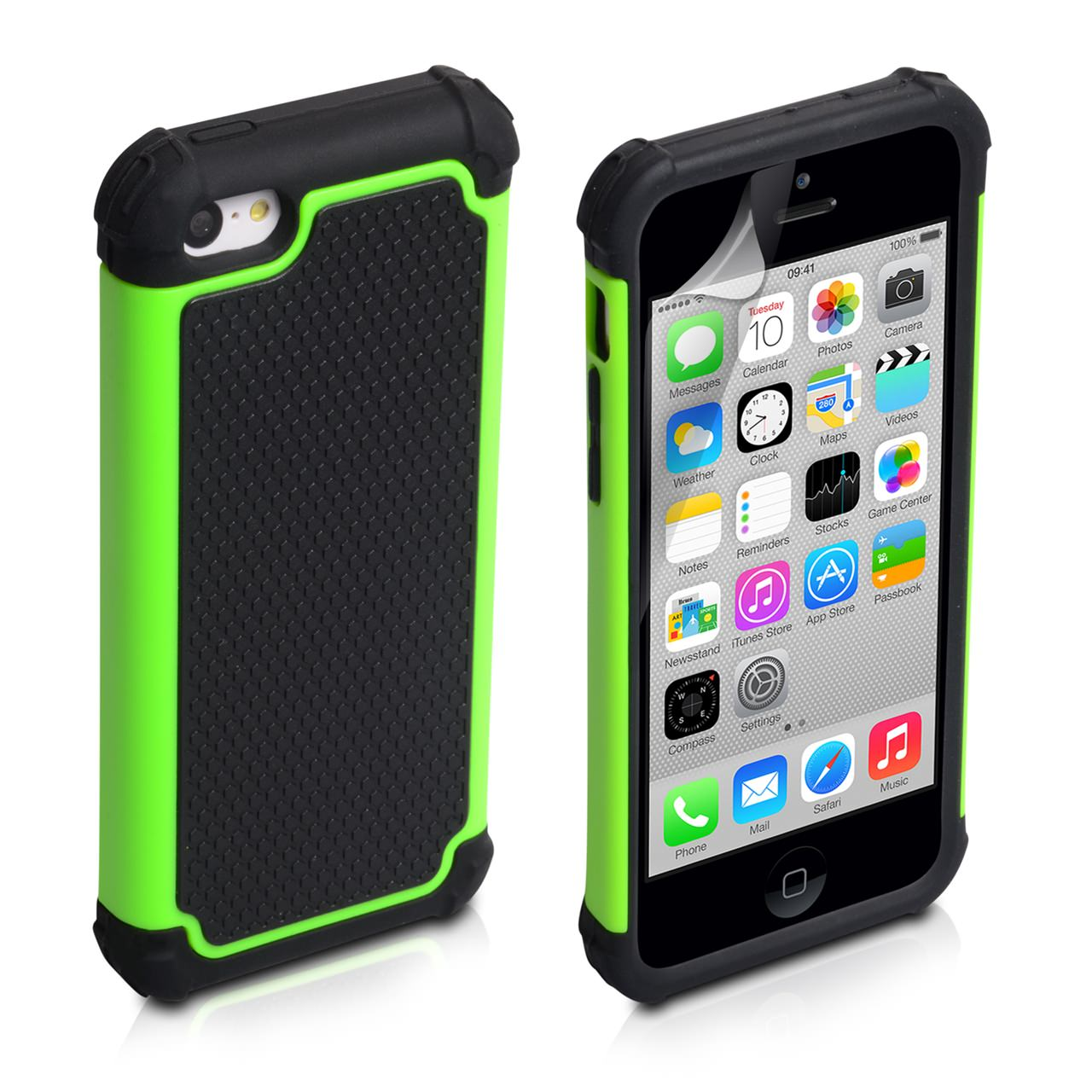 YouSave Accessories iPhone 5C Grip Combo Case - Green