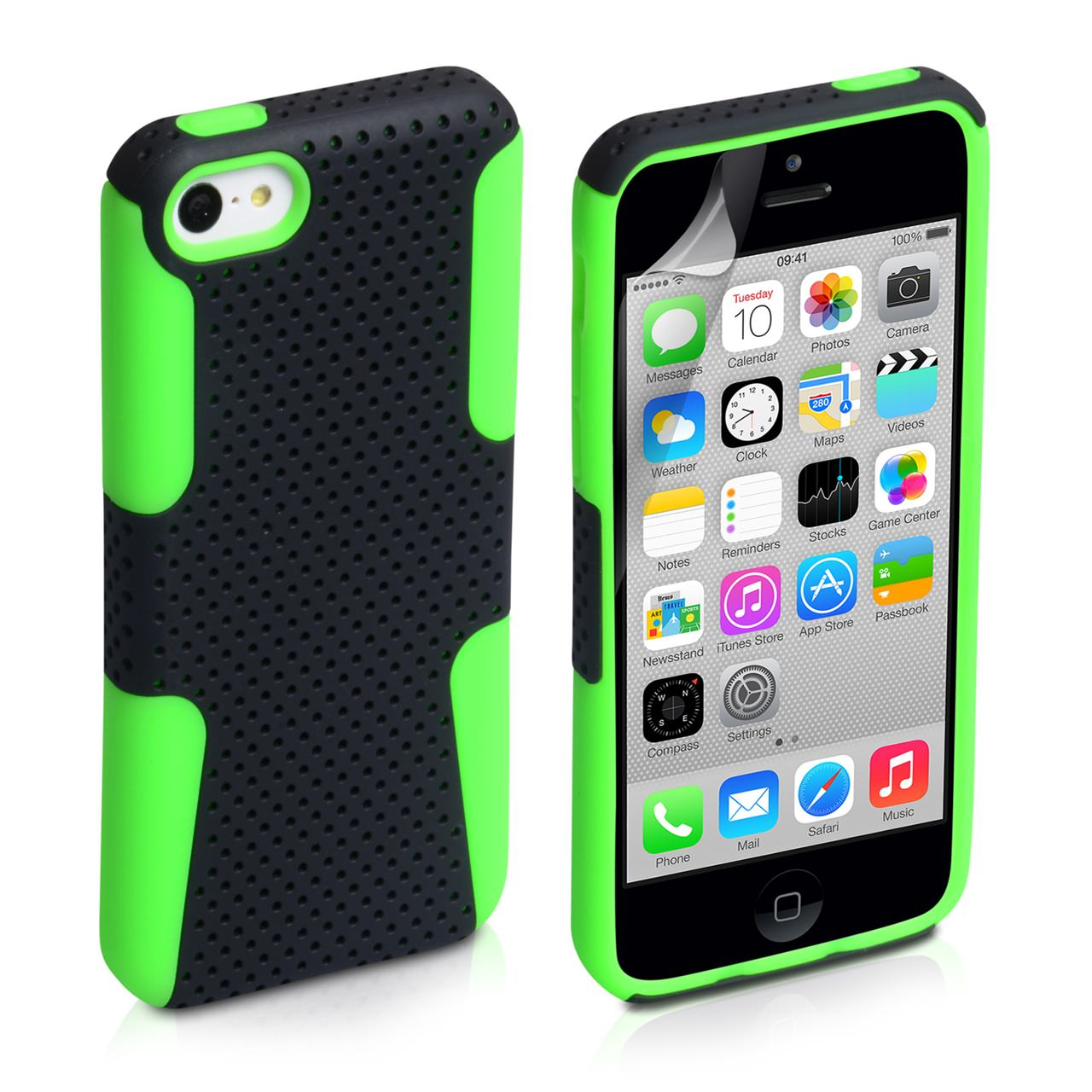 YouSave Accessories iPhone 5C Mesh Combo Case - Green