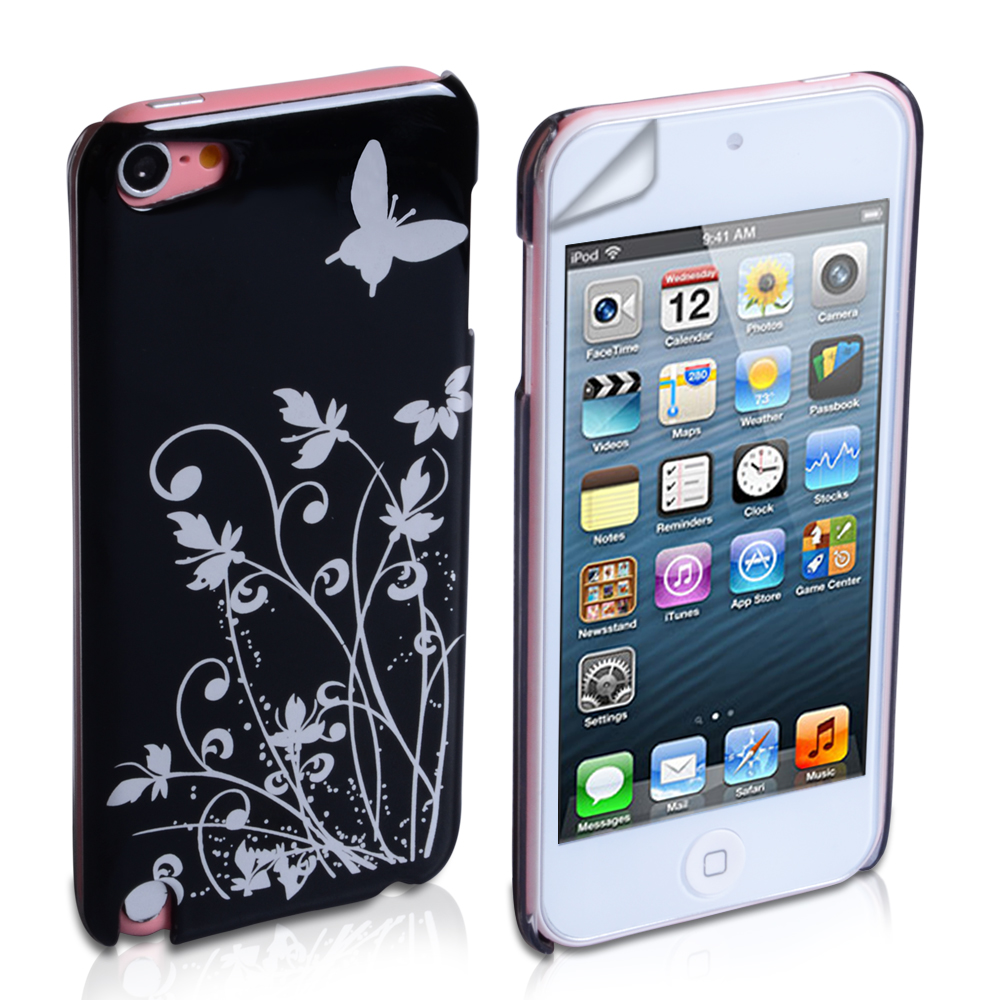 YouSave Accessories iPod Touch 5G Black Butterfly IMD Hard Case