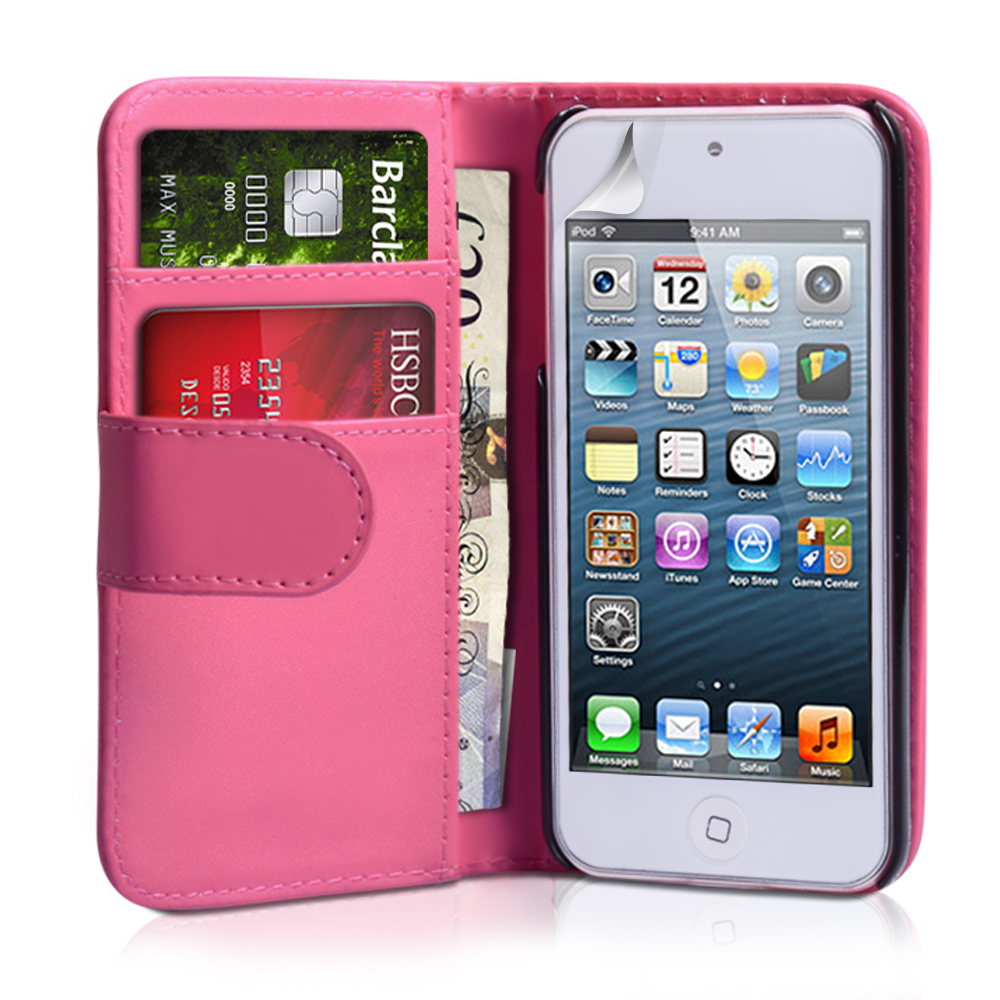 YouSave Accessories iPod Touch 5G Hot Pink Leather Wallet Case