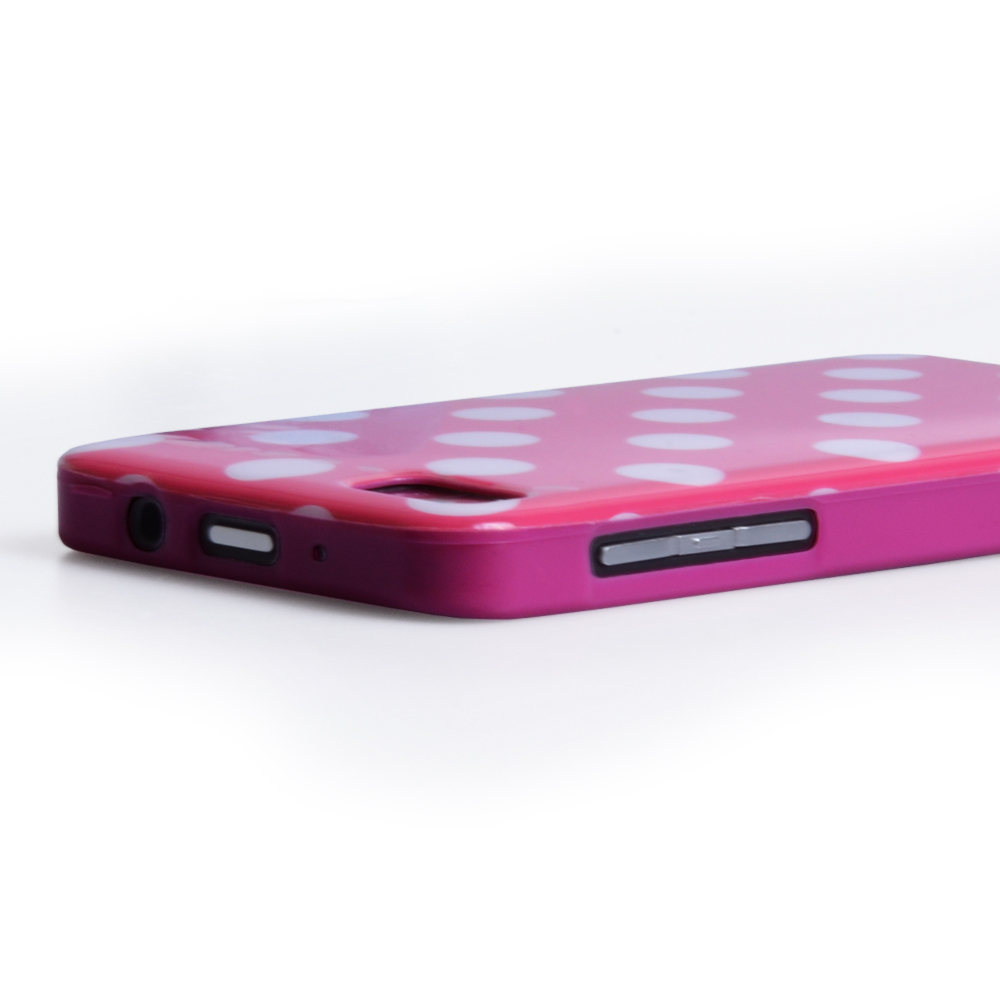 YouSave Accessories Blackberry Z10 Polka Dot Hard Case - Hot Pink