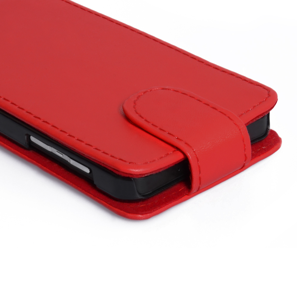 YouSave Accessories Blackberry Z10 Leather-Effect Flip Case - Red