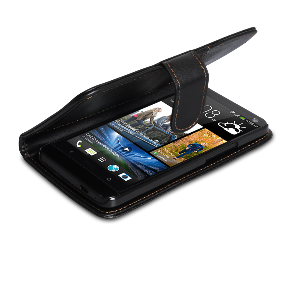 YouSave Accessories HTC One Leather Effect Wallet Case - Black
