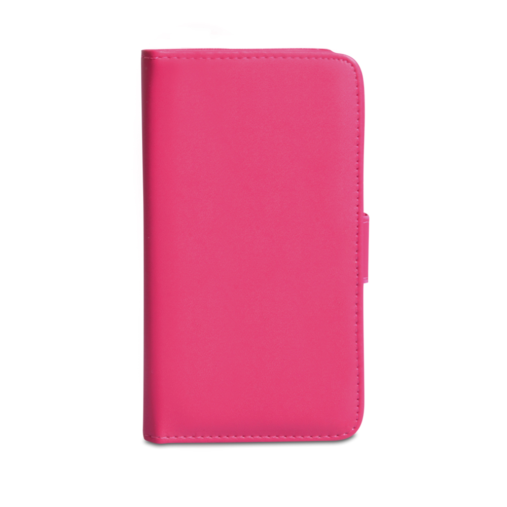 YouSave Accessories HTC One Leather Effect Wallet Case - Hot Pink