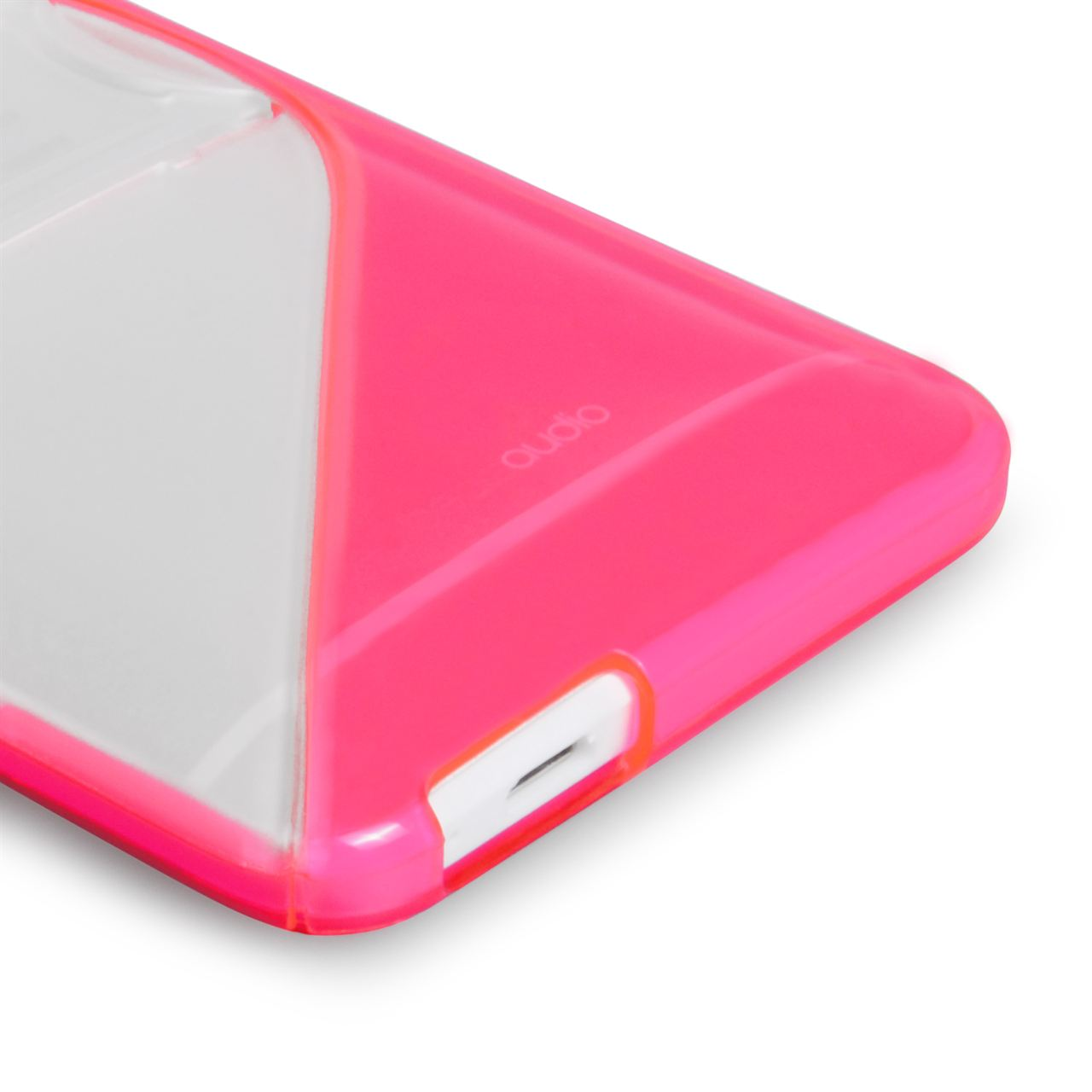 Caseflex HTC ONE Mini Silicone Gel S-Line Stand Case - White/Pink