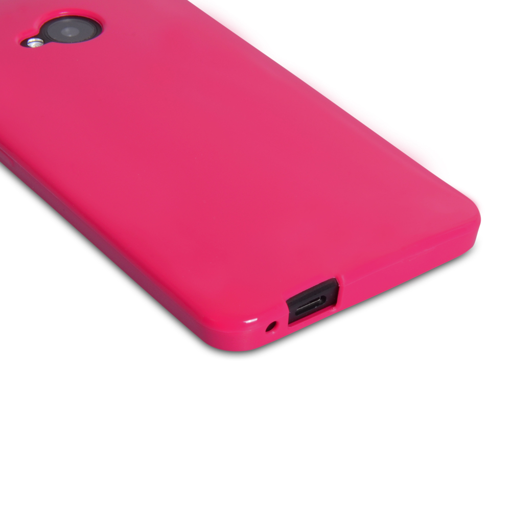 YouSave Accessories HTC One Silicone Gel Case - Pink