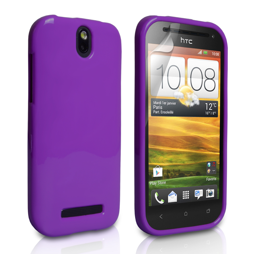 YouSave Accessories HTC One SV Purple Gel Case