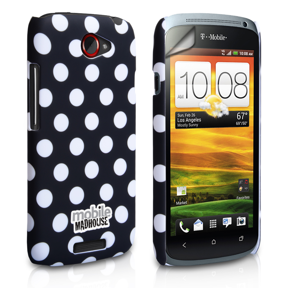 YouSave Accessories HTC One S Black Polka Dot Hard Case
