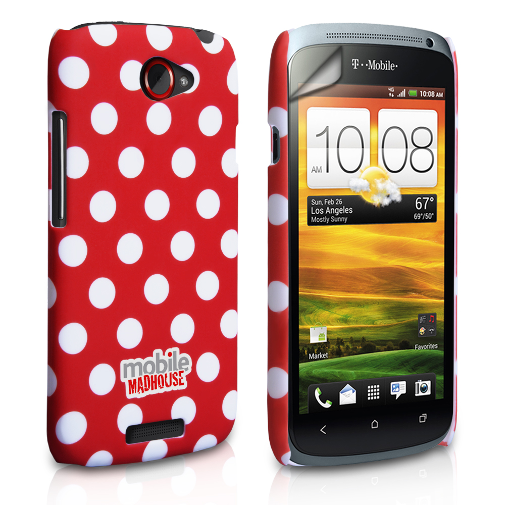 YouSave Accessories HTC One S Red Polka Dot Hard Case