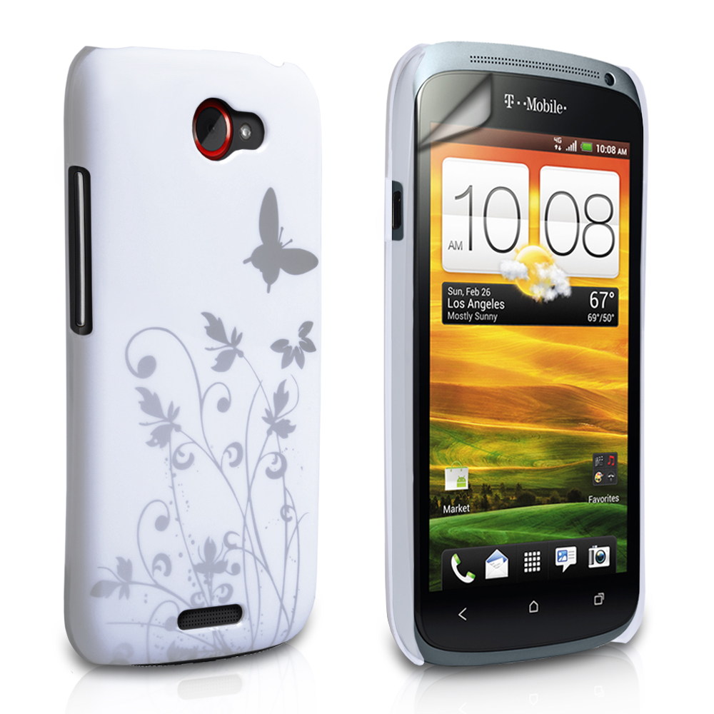 YouSave Accessories HTC One S White Butterfly IMD Hard Case