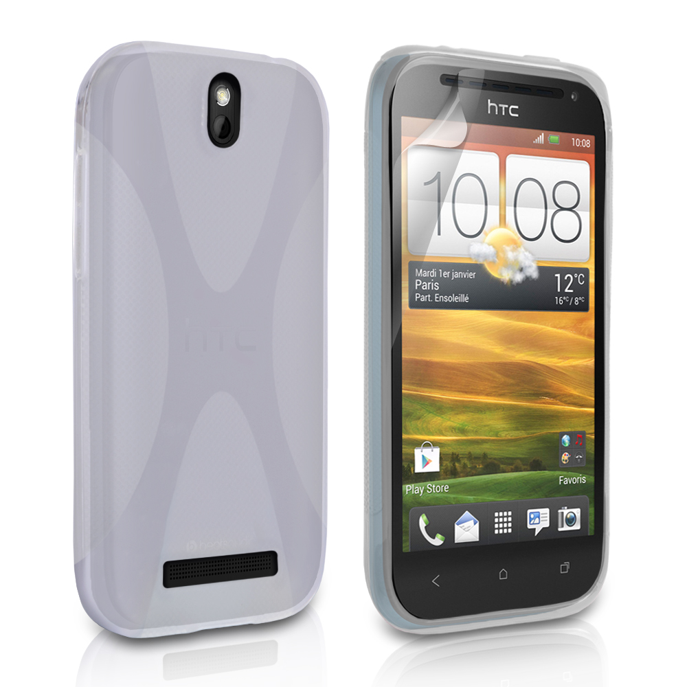 YouSave Accessories HTC One SV Clear X Line Case