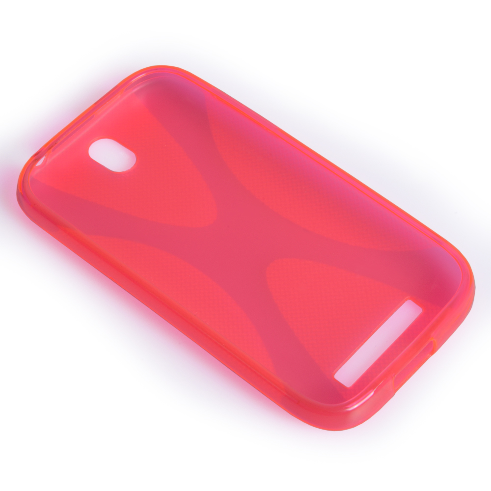 YouSave Accessories HTC One SV Hot Pink X Line Gel Case