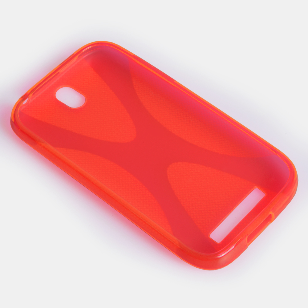 YouSave Accessories HTC One SV Red X Line Case