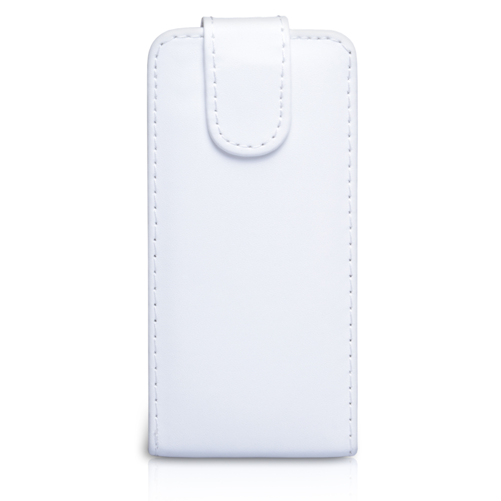 YouSave Accessories HTC One SV Leather Effect Flip Case - White