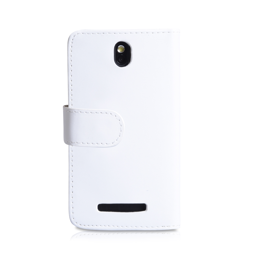 YouSave Accessories HTC One SV Leather Effect Wallet Case - White