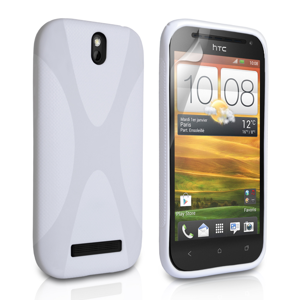 YouSave Accessories HTC One SV White X Line Gel Case