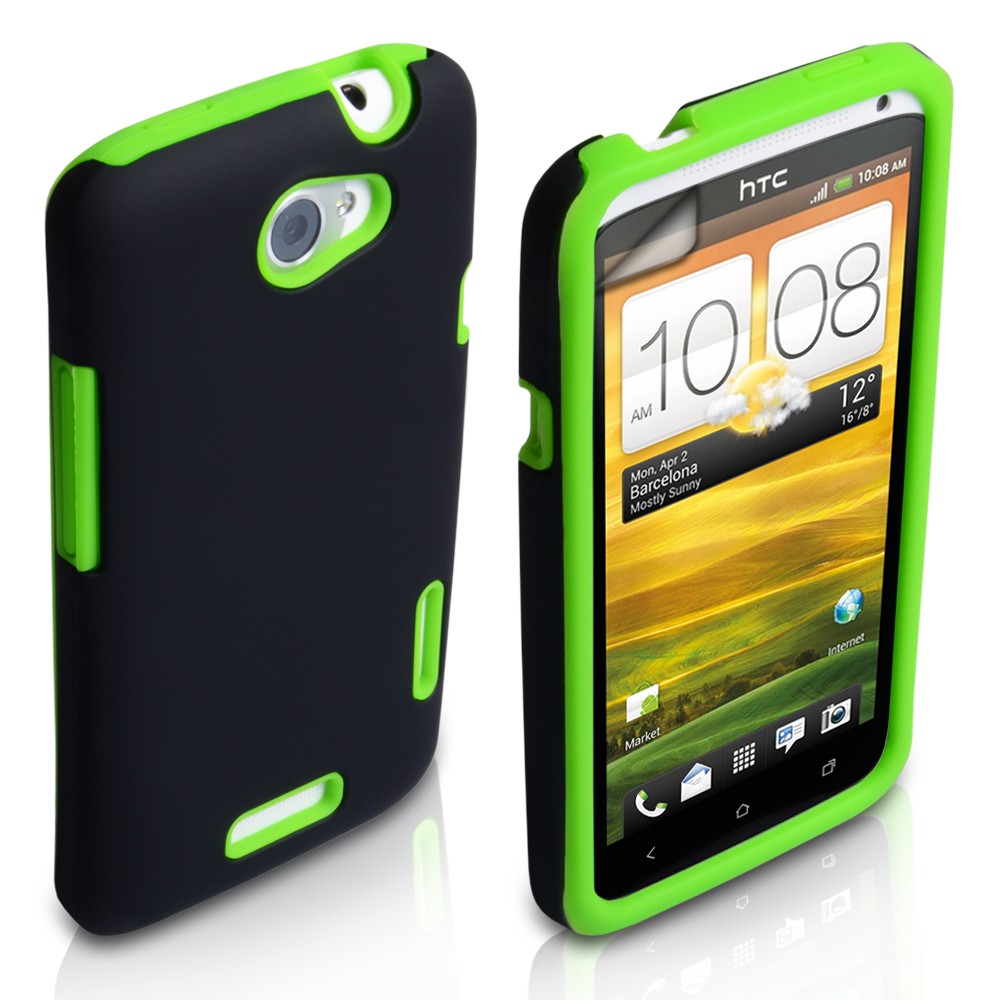 YouSave Accessories HTC One X Grip Combo Case - Green