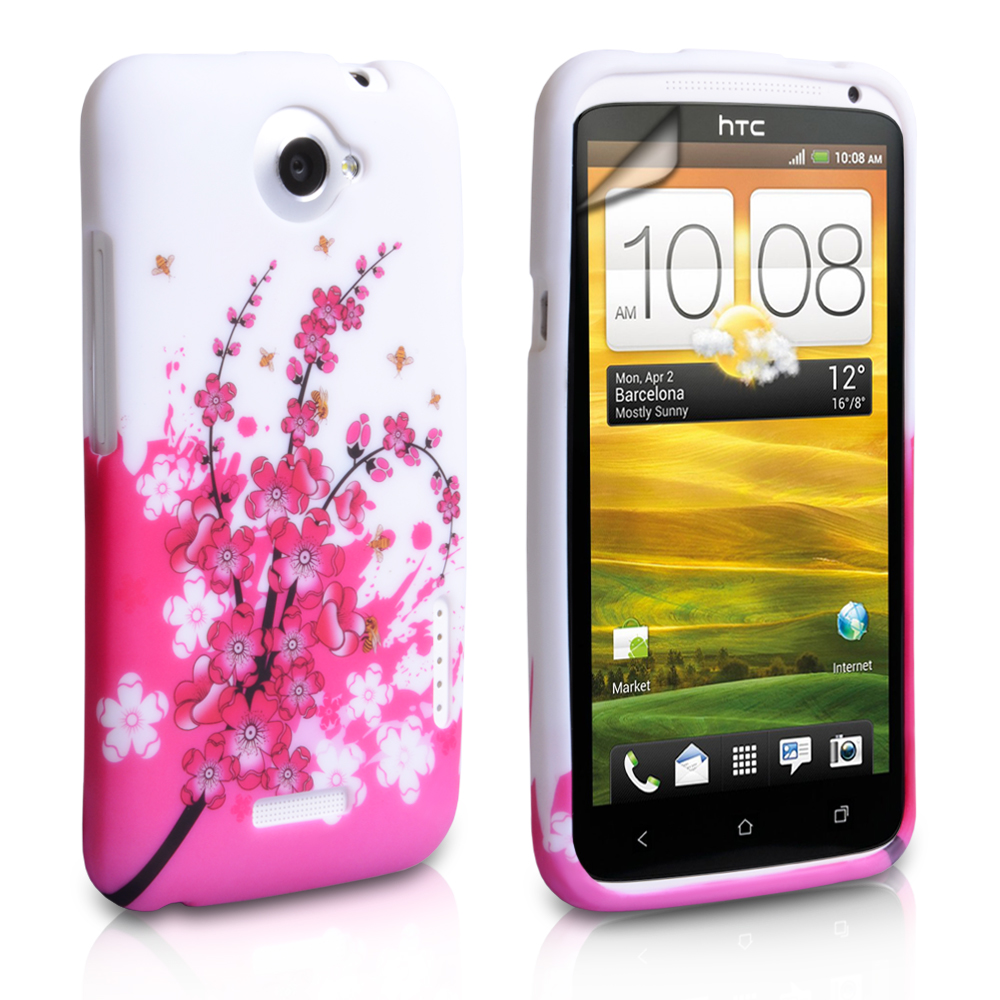 YouSave Accessories HTC One X Floral Bee Silicone Gel Case