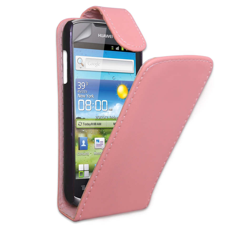 YouSave Huawei Ascend G300 Baby Pink Leather Effect Flip Case