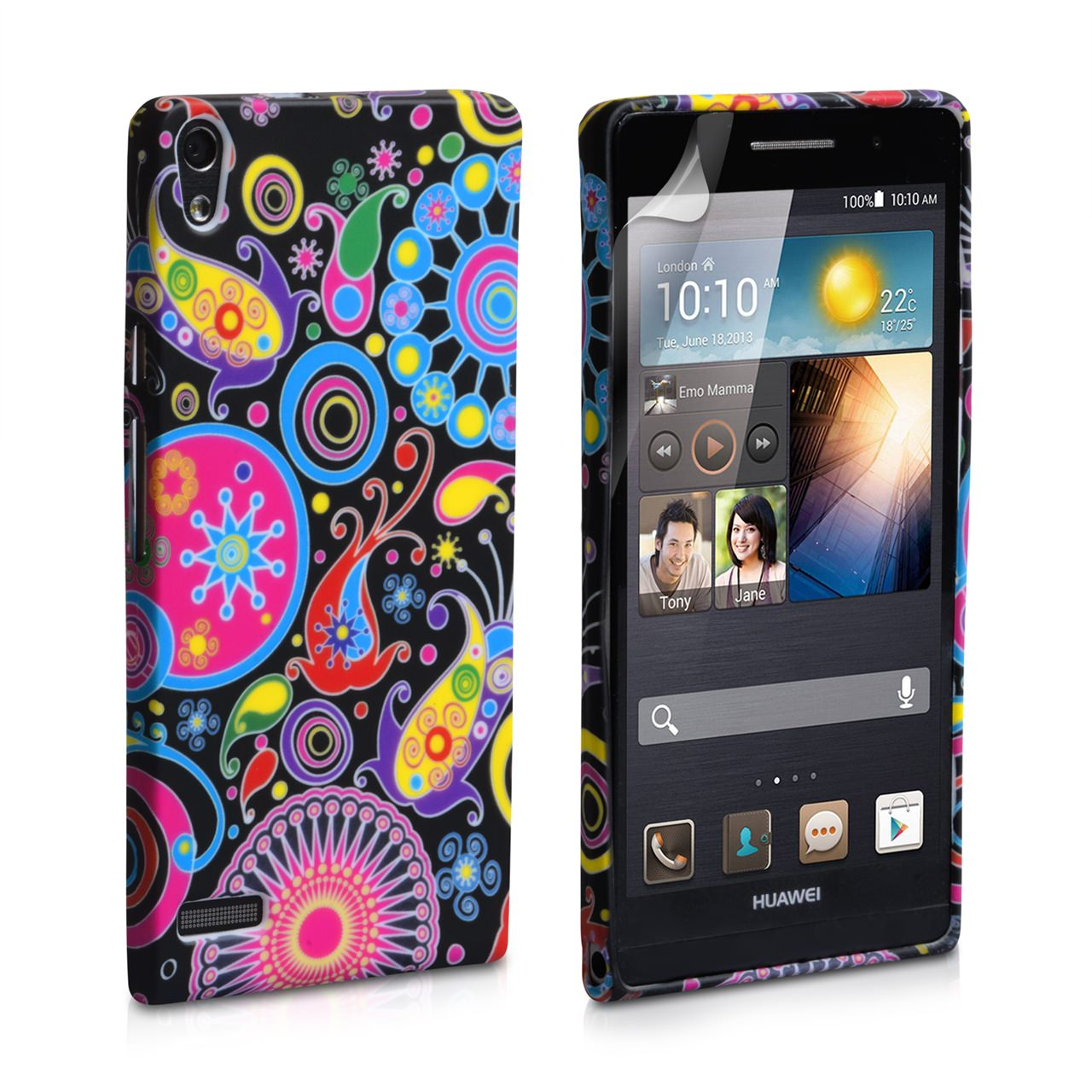 YouSave Accessories Huawei Ascend P6 Jellyfish Silicone Gel Case