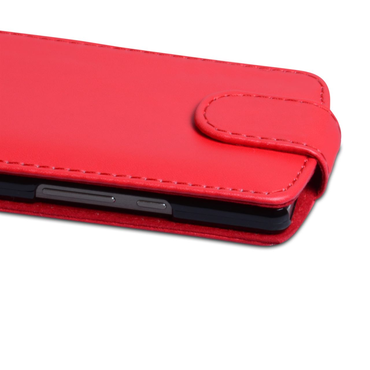 YouSave Accessories Huawei Ascend P6 Leather-Effect Flip Case - Red