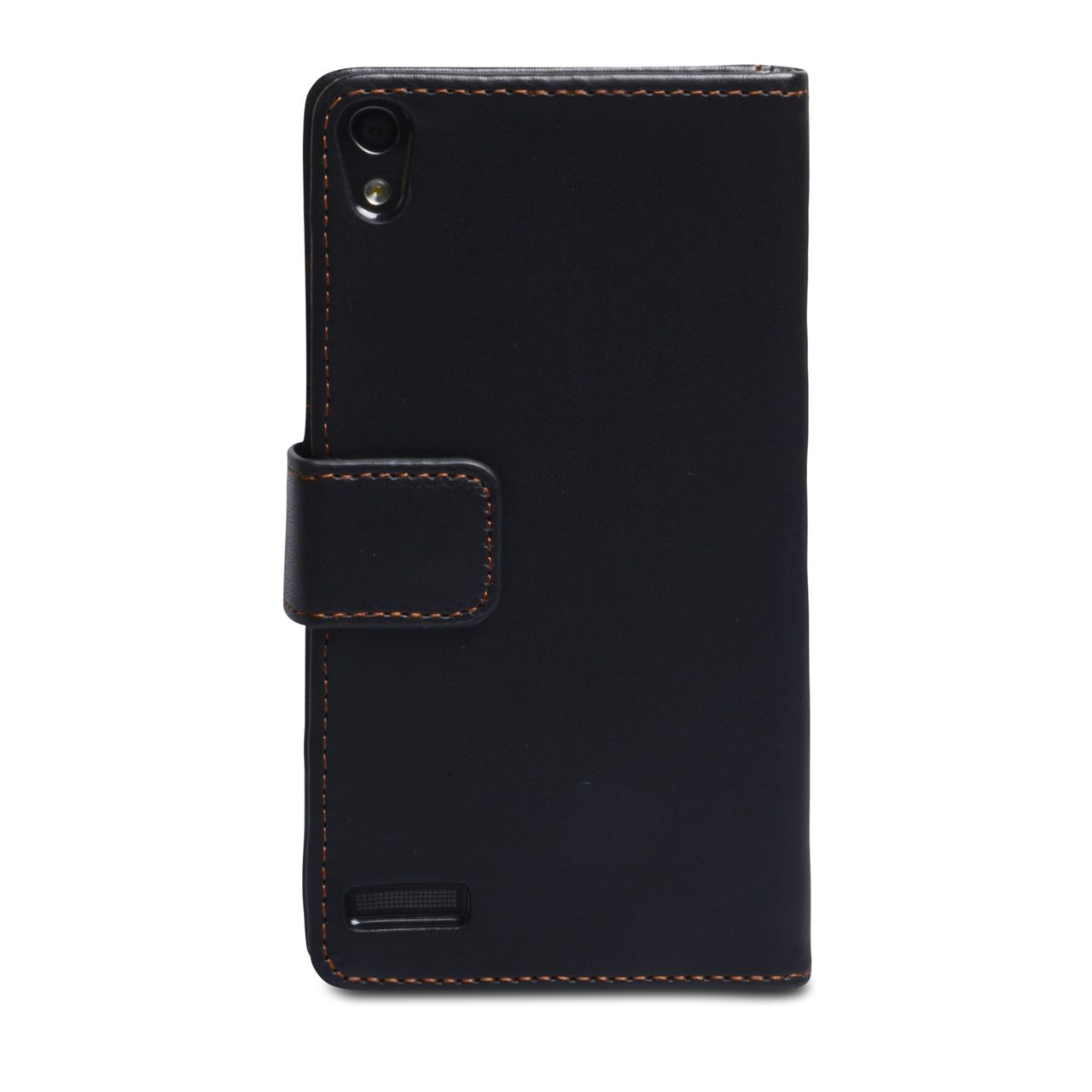 YouSave Huawei Ascend P6 Leather-Effect Wallet Case - Black