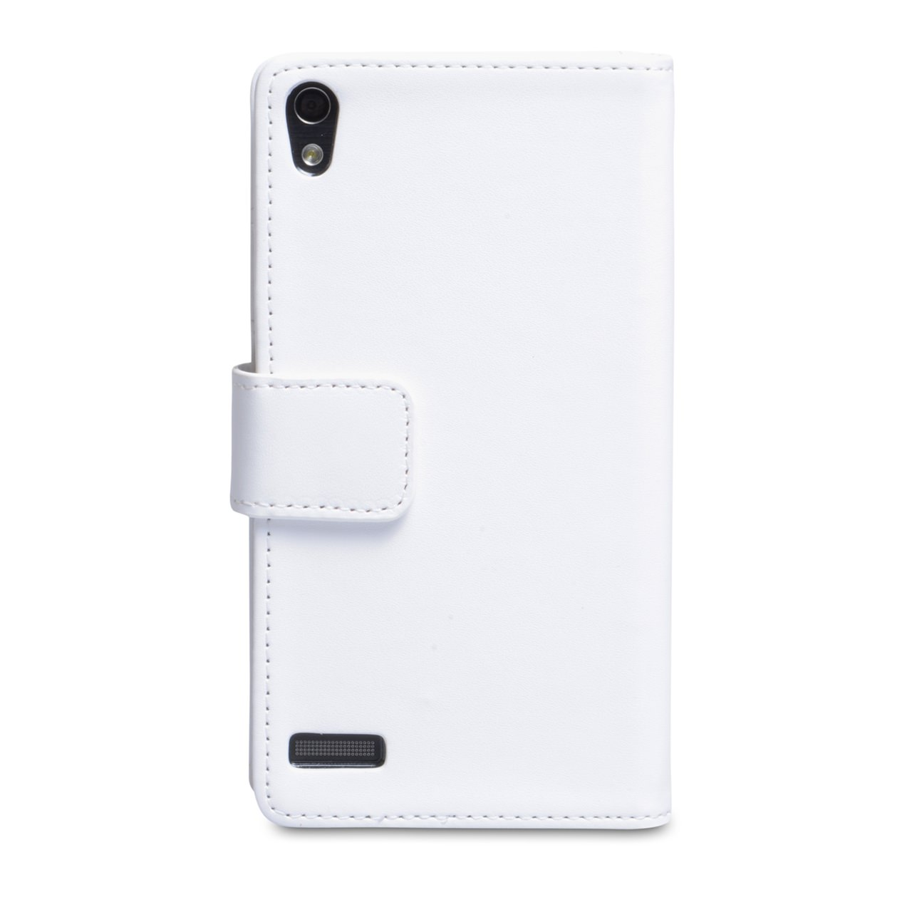 YouSave Huawei Ascend P6 Leather-Effect Wallet Case - White