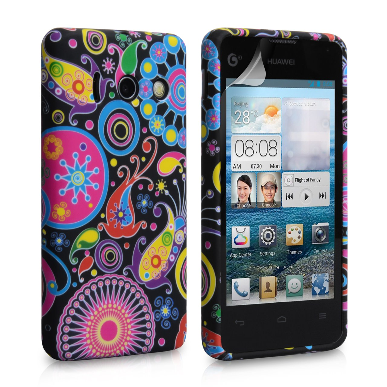 YouSave Accessories Huawei Ascend Y300 Jellyfish Silicone Gel Case
