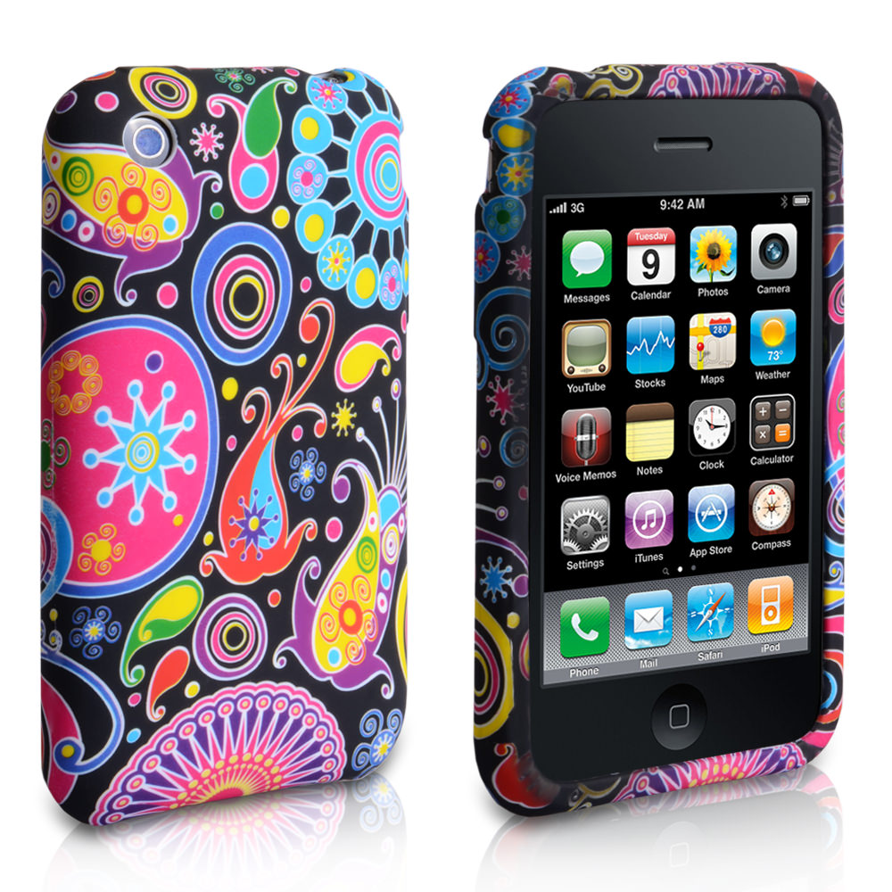 YouSave Accessories iPhone 3G / 3GS Black Jellyfish Gel Case
