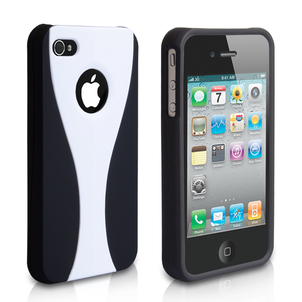 YouSave Accessories iPhone 4 / 4S Dual Hard Case - White