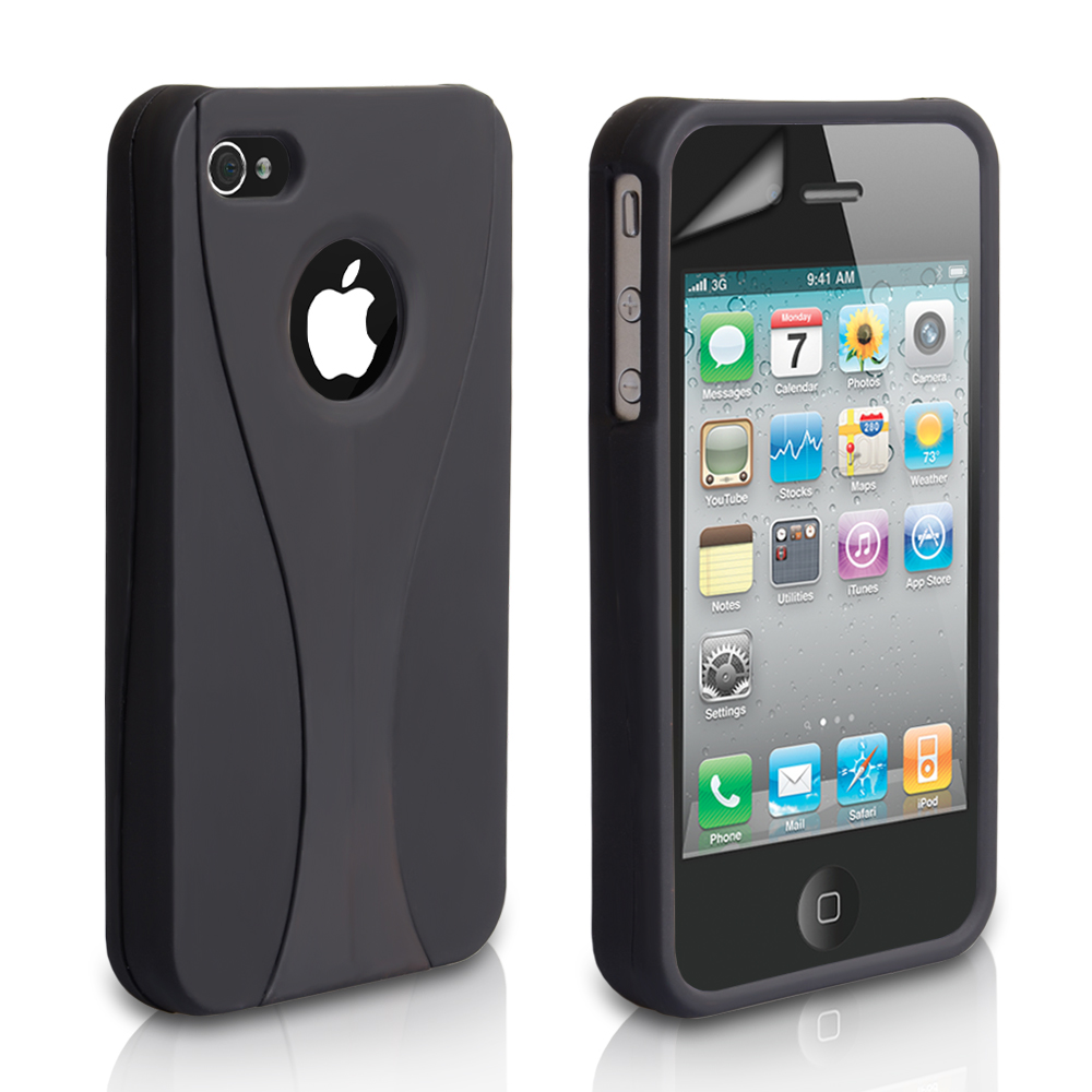 YouSave Accessories iPhone 4 / 4S Dual Hard Case - Black