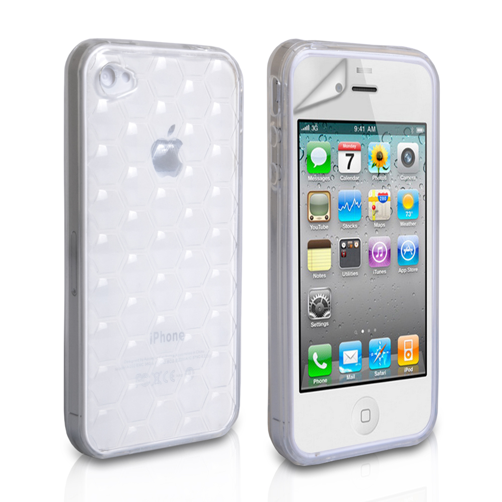 YouSave Accessories iPhone 4 / 4S Gel Case - White / Translucent