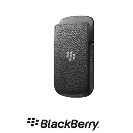 Blackberry Q5 Official Black Real Leather Pocket Case