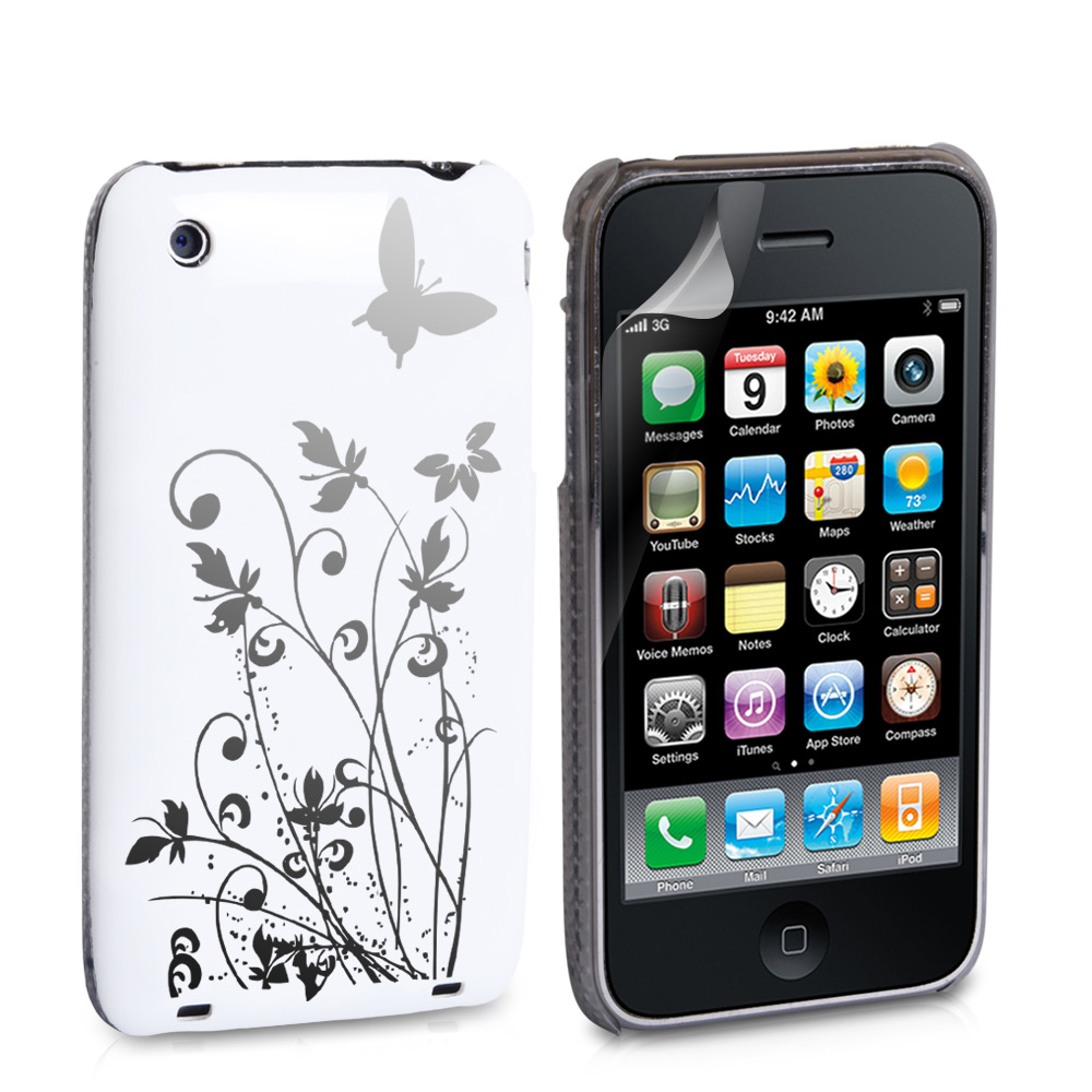 YouSave Accessories iPhone 3G / 3GS IMD Hard Back Case - White