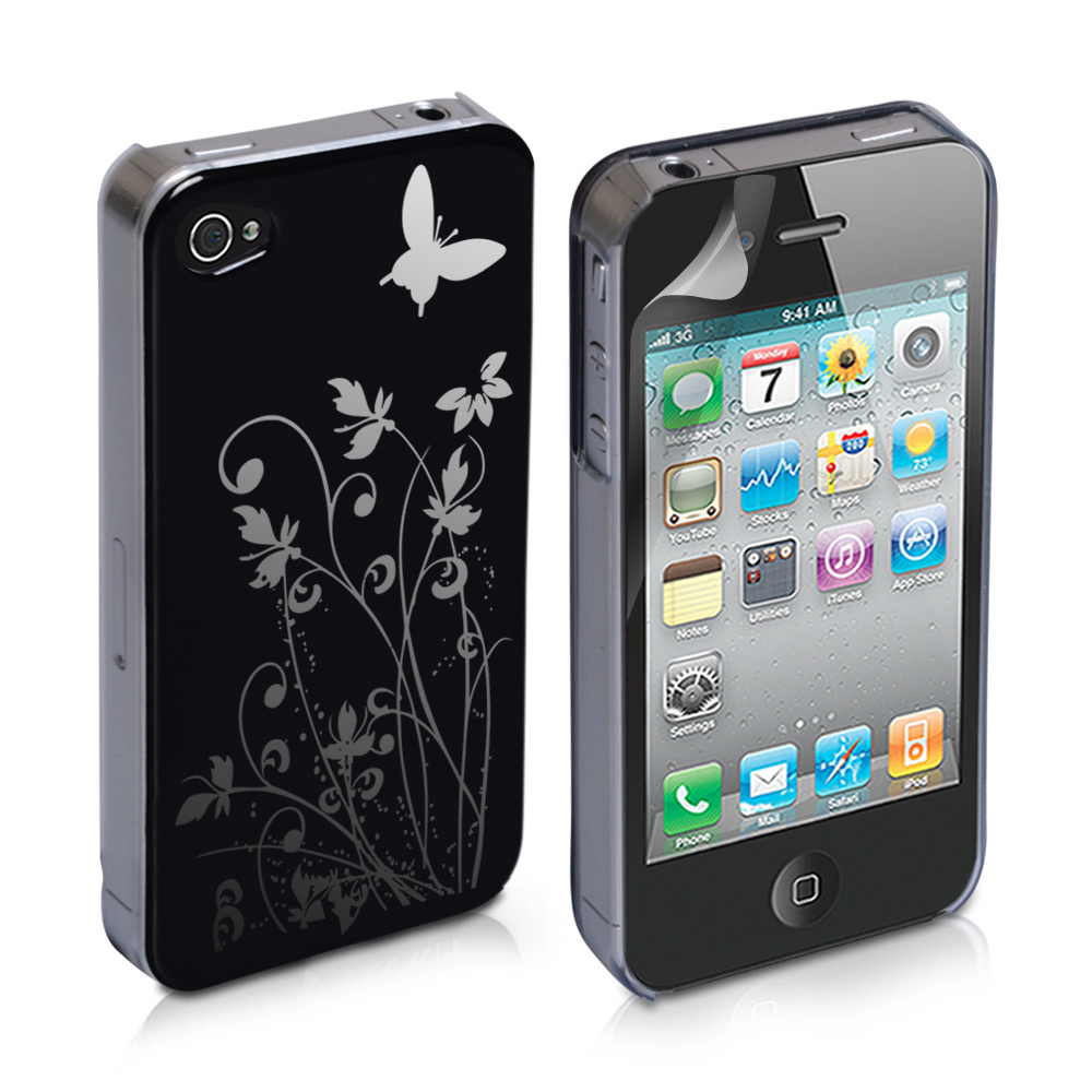 YouSave Accessories iPod Touch 4 Black IMD Hard Back Case