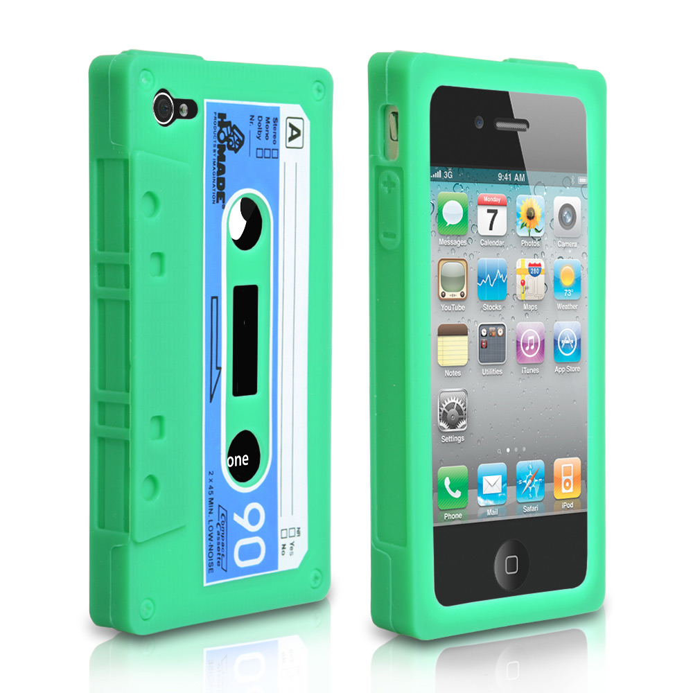 YouSave Accessories iPhone 4 / 4S Cassette Gel Case - Green