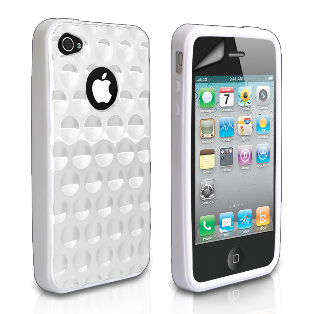YouSave Accessories iPhone 4 / 4S Bubble Gel Case - White