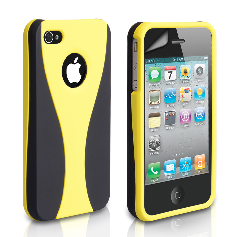 YouSave Accessories iPhone 4 / 4S Dual Hard Case - Yellow