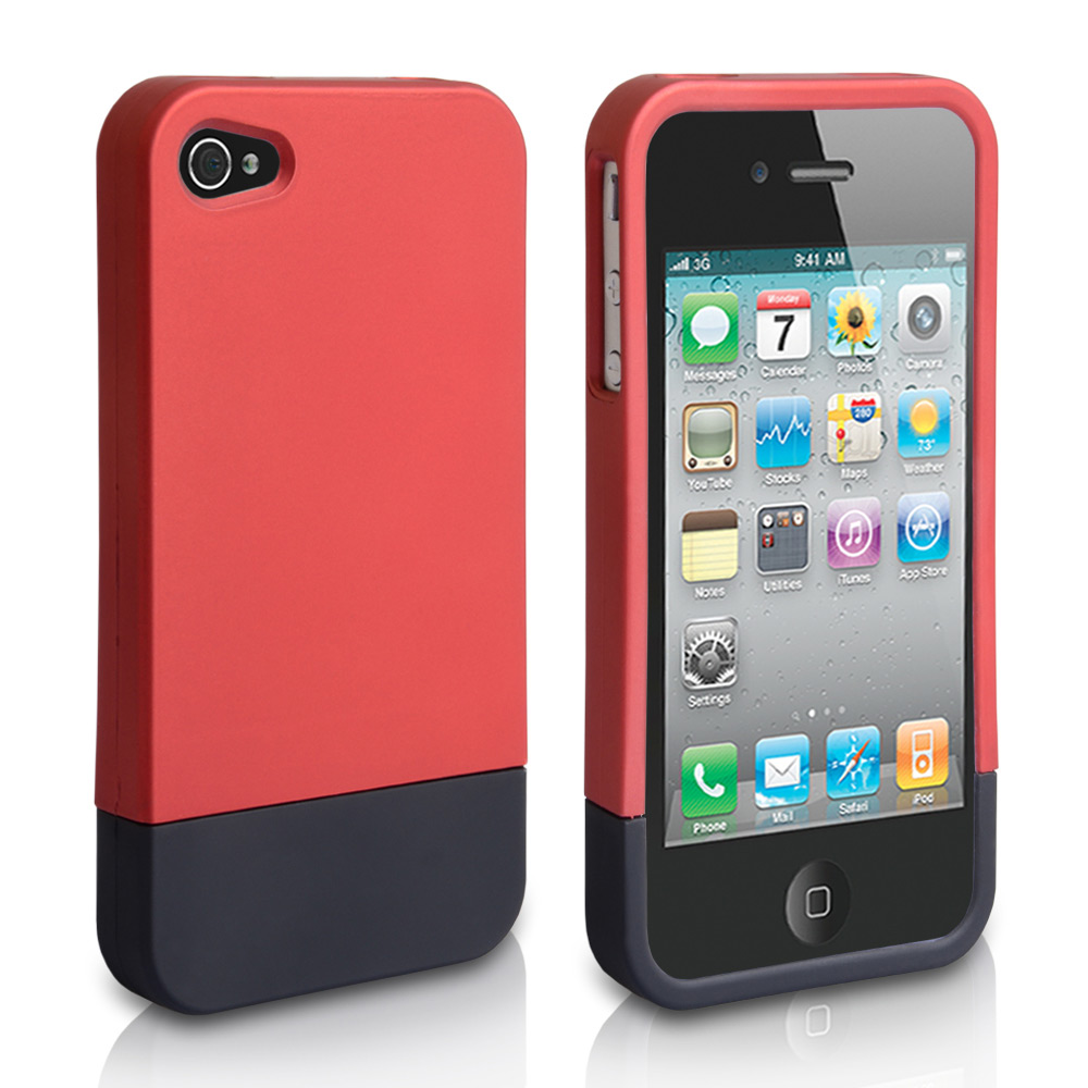 YouSave Accessories iPhone 4 / 4S Bumper Case - Red-Black
