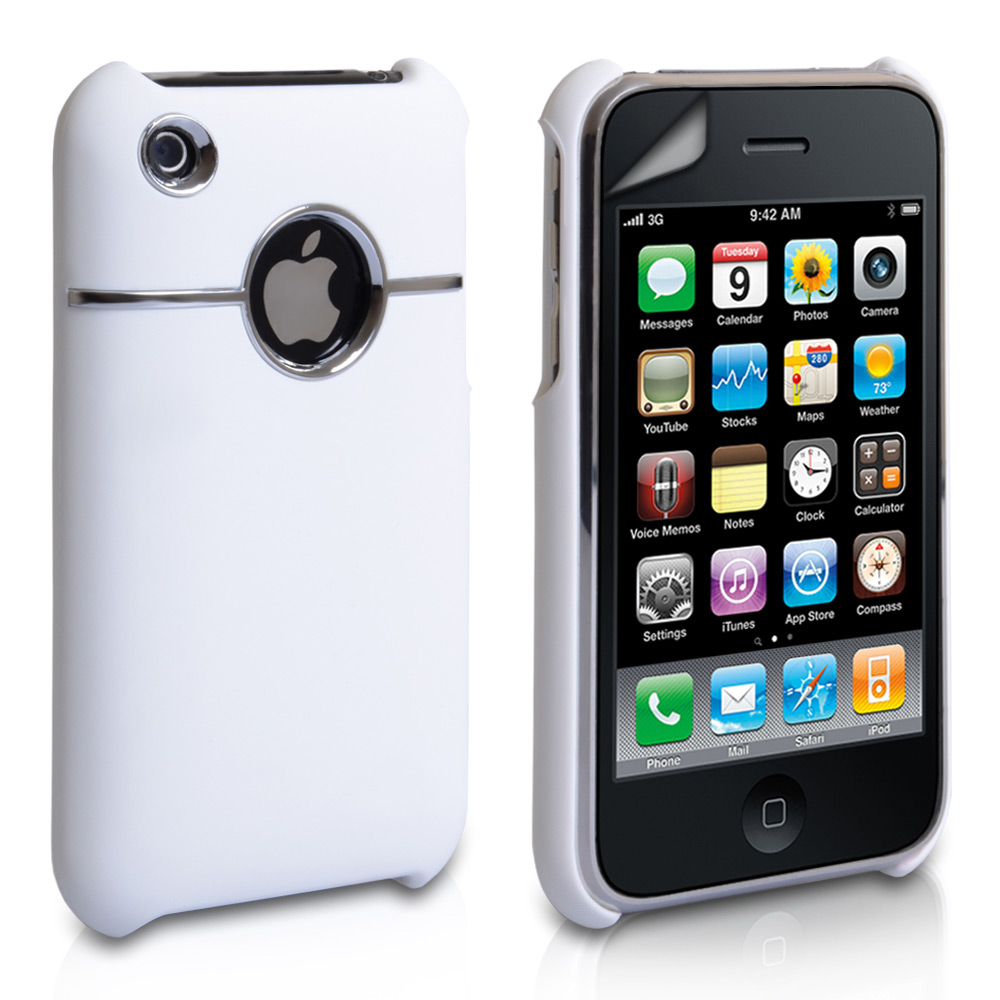 YouSave Accessories iPhone 3G / 3GS Hard Combo Case - White