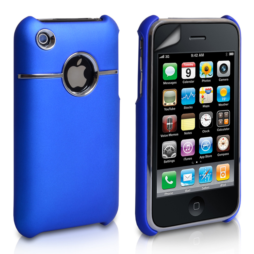 YouSave Accessories iPhone 3G / 3GS Hard Combo Case - Blue