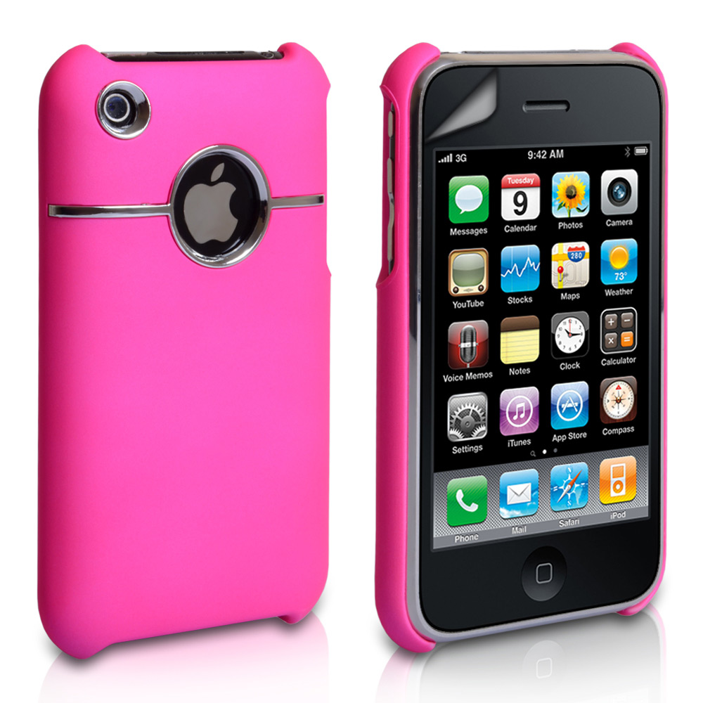 YouSave Accessories iPhone 3G / 3GS Hard Combo Case - Pink