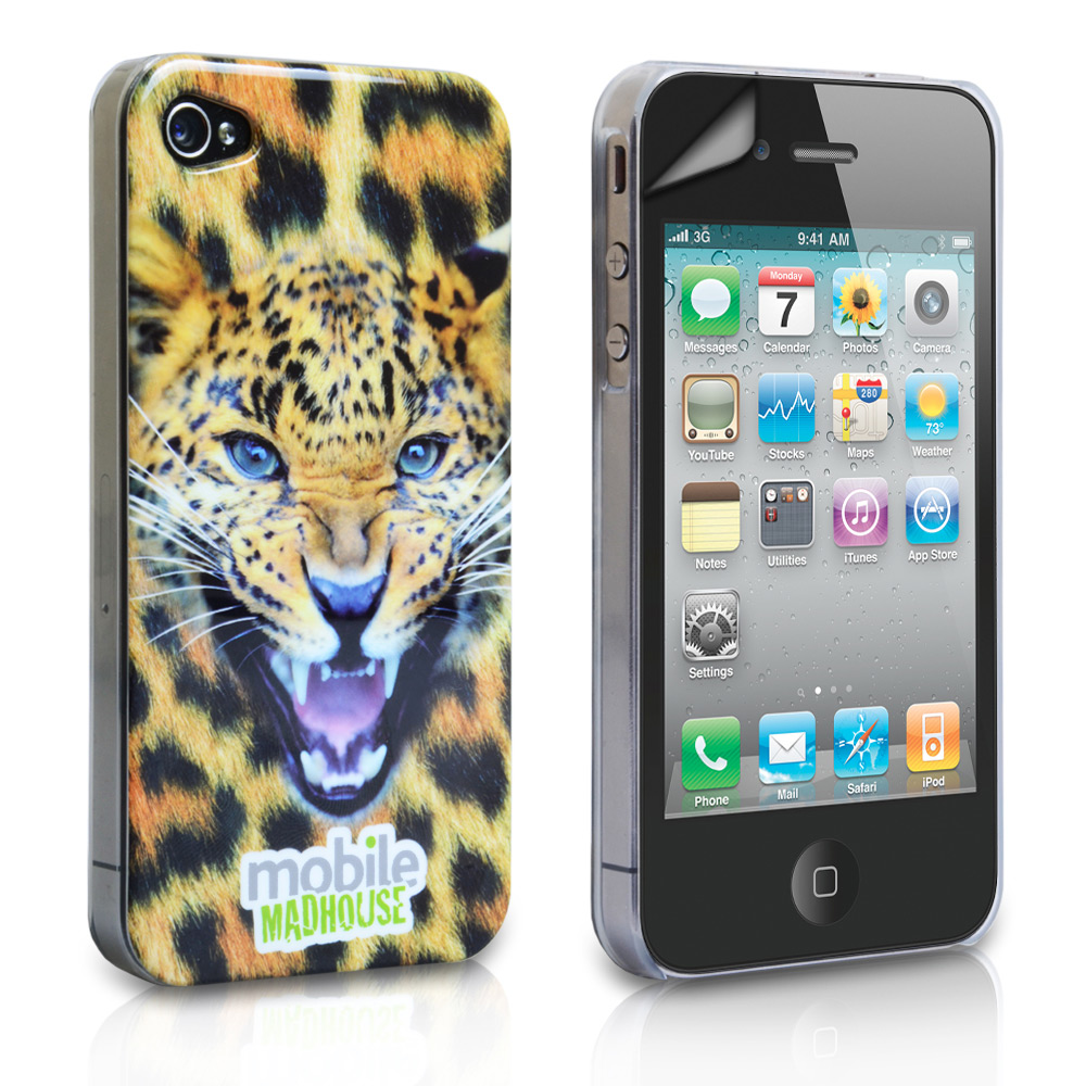 YouSave Accessories iPhone 4 / 4S Leopard IMD Hard Hybrid Case