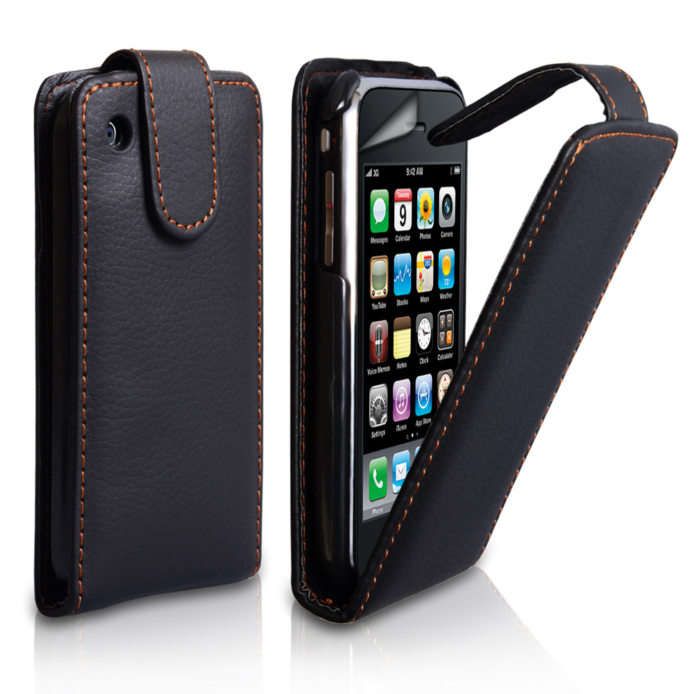 YouSave Accessories iPhone 3G / 3GS Leather Effect Flip Case - Black