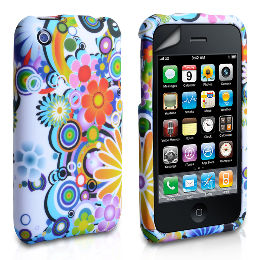 YouSave Accessories iPhone 3G / 3GS White Floral Gel Case